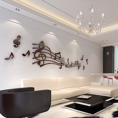 New Collection Music 3d Wall Stickers Living Room School