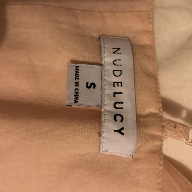 Nude Lucy blush linen top