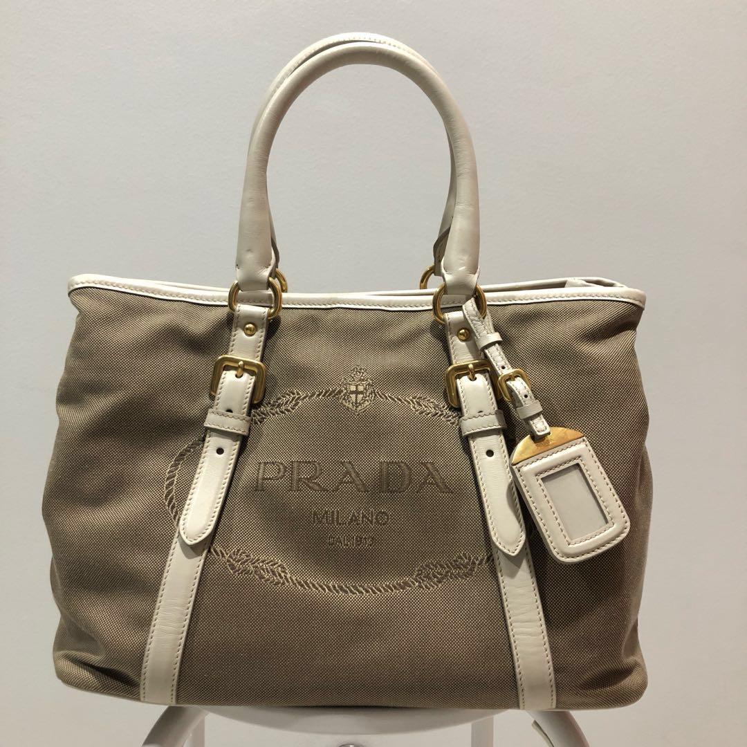 86dda3922a4885 Prada shopping (logo jacquard) BN2832, Women's Fashion, Bags ...