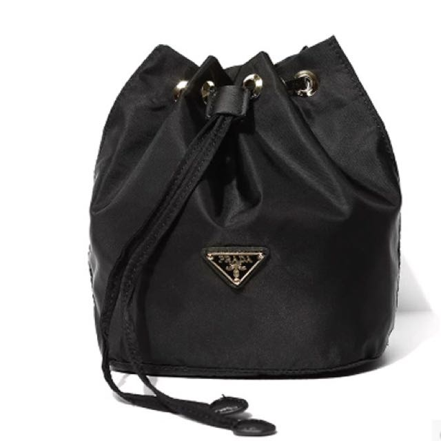 cdc62a53ec20 Prada Vela Nylon Drawstring Bag, Luxury, Bags & Wallets, Handbags on ...