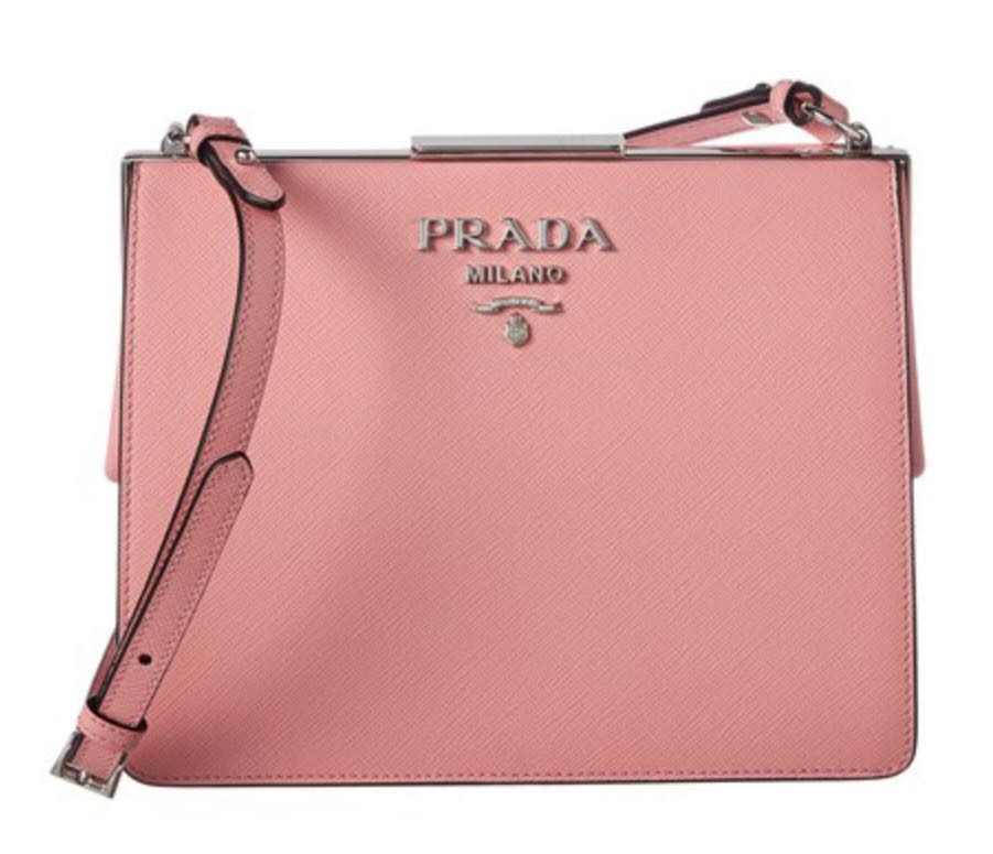 34e4405c3b16 Pre-order: Prada Light Frame Saffiano Leather Shoulder Bag, Women's ...