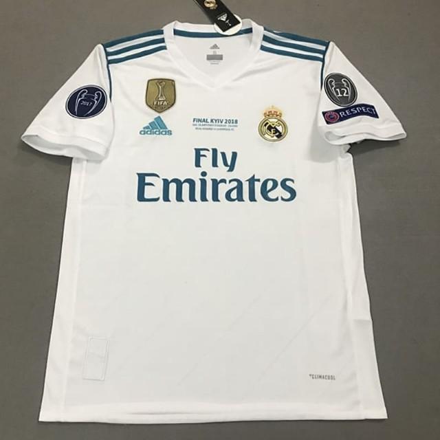 23ed35401 Real Madrid Champions League Final Kiev Home Jersey