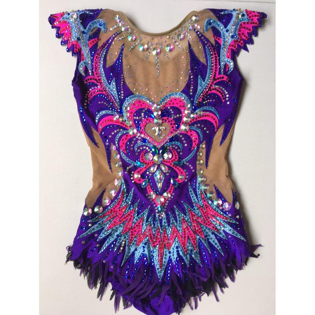 27fabedf8683 Rhythmic Gymnastics Leotard for rent (blue/purple/pink): 125-140cm ...