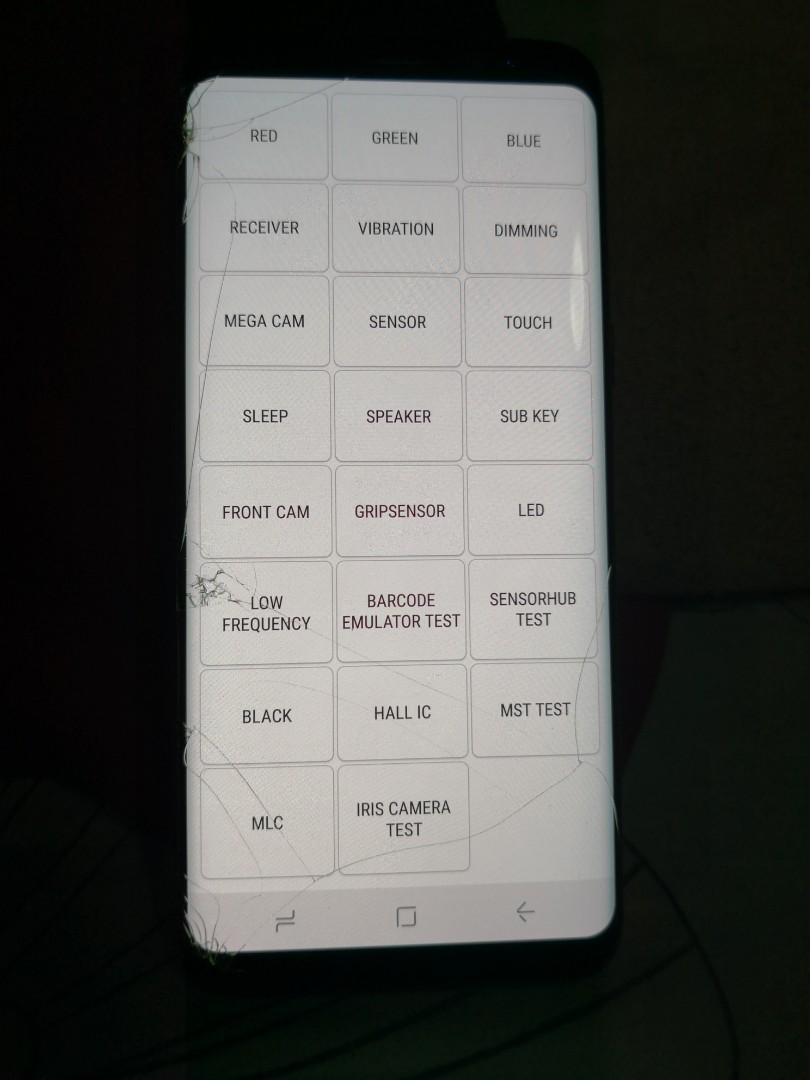 Samsung Galaxy S8 (Left Side Crack)