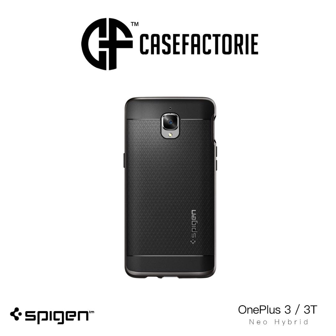 best sneakers 8eca7 6f05e Spigen Neo Hybrid Oneplus 3T Black Case Casing Cover