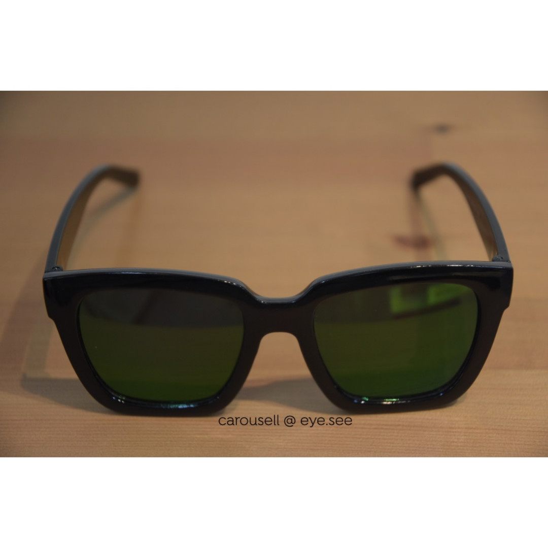 74d79710a50 Sunglasses with green mirror coating ulzzang eyewear