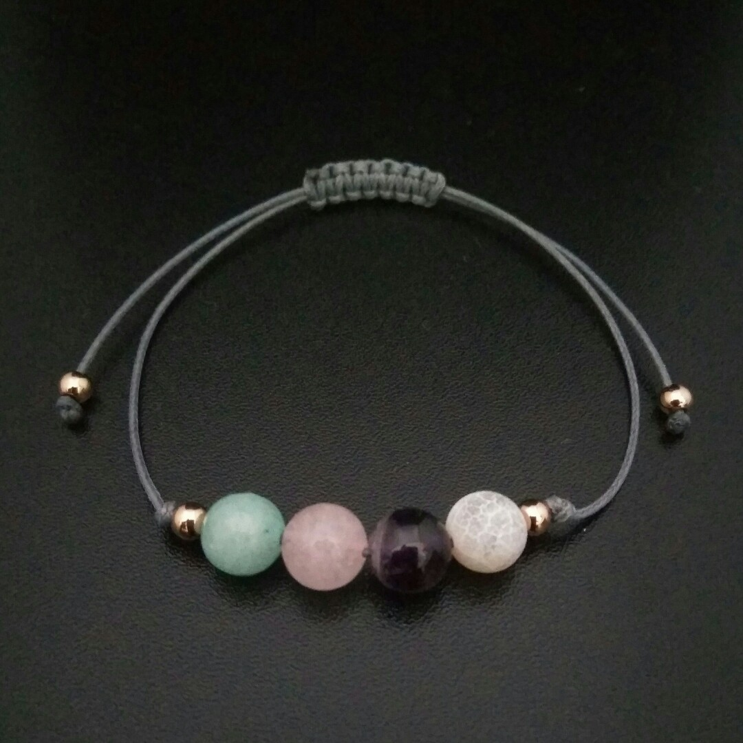 Womens Bracelet Shamballa Bracelet Adjustable Power Stone Macrame