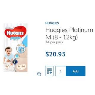 Huggies Platinum Boy Pants - Medium Size (8 - 12kg) M