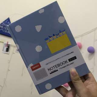 MINISO NOTEBOOK HARDCOVER BLUE NEW