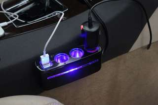 Car charger triple socket adapter