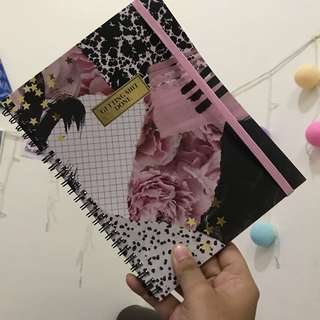 TYPO A5 SPINOUT NOTEBOOK FLORAL COLLAGE NEW