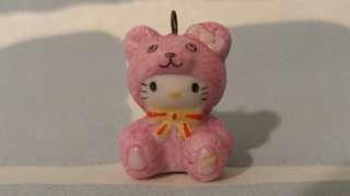 Hello kitty kt 扮熊 Sanrio 絕版 陶器 擺設 吊飾 掛飾 罕 vintage