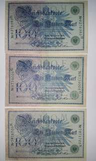 Germany 100 Mark 1908 Banknote