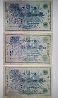 Germany 100 Mark 1908 Banknote