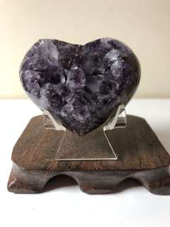 烏拉圭紫水晶二次結晶愛心
