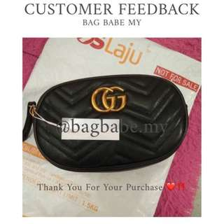 READY STOCK HIGH GRADE QUALITY GUCCI POUCH BAG