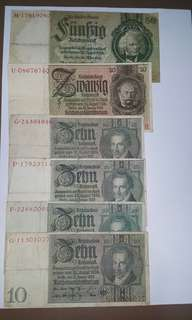 Nazi Germany Banknotes