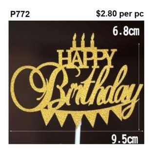 Cake Pick Happy Birthday Candles P772