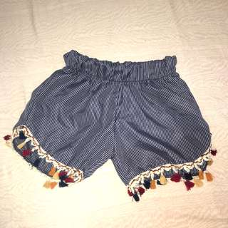 Shorts with Pompoms