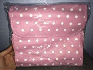 Etude House 粉紅色波點化妝袋