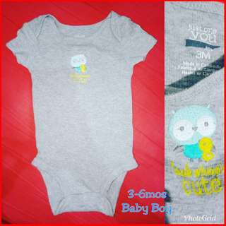 Onesies Gray for 3-6 mos baby boy