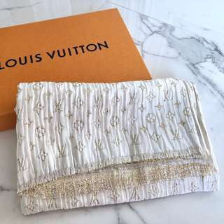 Louis Vuitton LV White Monogram Silk Scarf