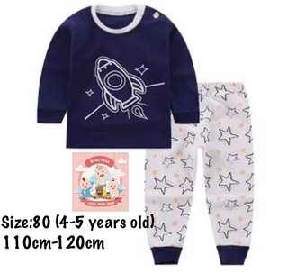Rocket kids pajamas, baju tidur (size80)