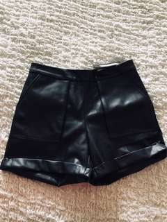 Nasty Gal vegan leather shorts