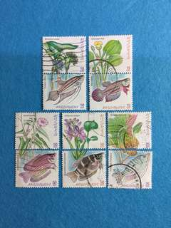 1999 Freshwater Fishes of Malaysia Set of 10V Used Complete Set