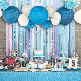 Blue/Pink Party Decor Set for Boys/Girls Birthday Party or Baby Shower