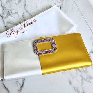 Roger Vivier RV Bi-colour Crystal Clutch