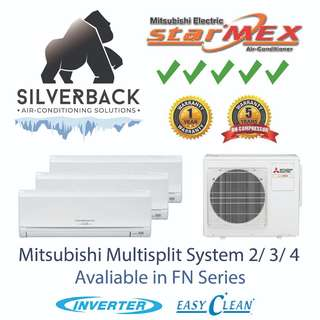 Mitsubishi Electric Starmex Inverter Aircon System 2/3/4 (5 Ticks) FN Series (installation included)