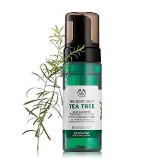 THE BODY SHOP 茶樹潔面泡沫 Tea Tree Skin Clearing Foaming Cleanser 暗瘡消炎 除粉刺 面油 150 mL
