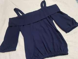 Navy Blue Off shoulder blouse