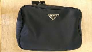 PRADA cosmetic bag in navy color