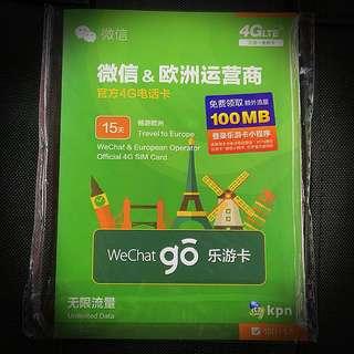 歐洲15日4G無限上網卡