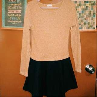 Long sleeves Brown Dress