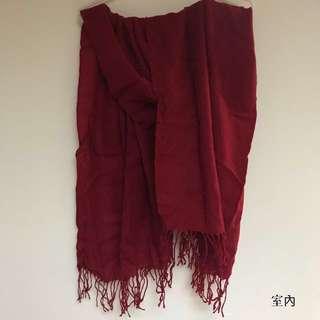 酒紅素色圍巾🧣#幫舊愛找新家