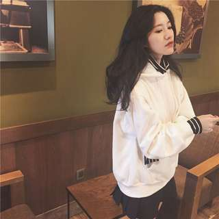 [PO] Ulzzang Fake Two Piece Hoodie