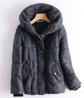 *購自日本*belle maison 千趣會冬天冬季深灰色枕頭外套褸