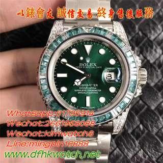 免訂面交 勞力士Rolex Submariner 116610 綠圈綠面 潛航者型 40mm 機芯型號:Cal.3135 不鏽鋼,配抗刮損Cerachrom陶質字圈,藍寶石 日曆 防水 綠水鬼 完美版