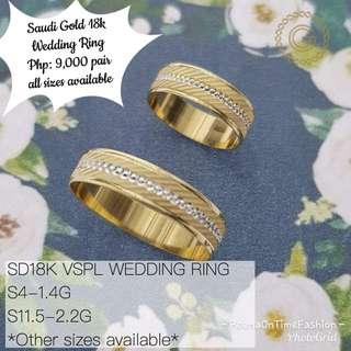 Saudi Gold 18k Wedding Ring