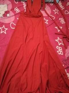 Infinity dress w/ slit