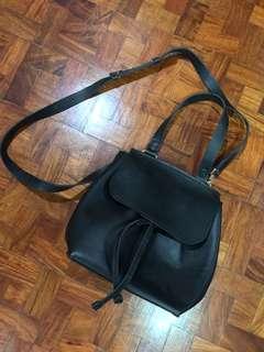 Genuine leather black bag