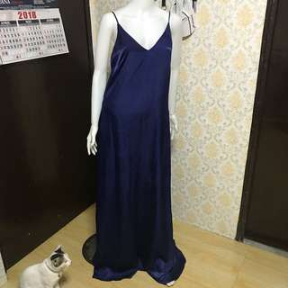 Silky Midnight Blue Gown