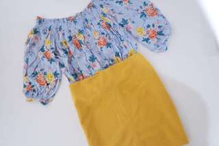 Mustard Mini Skirt REPRICED✨