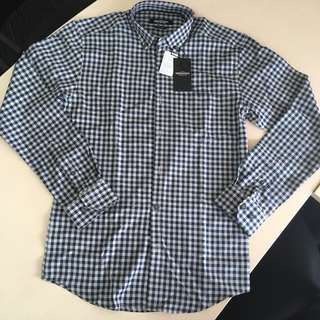 Kent&Crew Blue Checkered Shirt