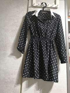 Polka Dot Dress (Black and white available)
