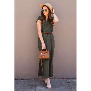 Dress with Slit and Belt - COD