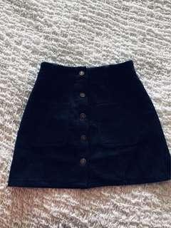 Corduroy velvety texture vintage skirt